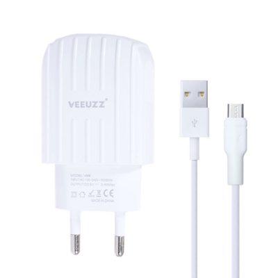 شارژر دیواری ویوز (VEEUZZ) به همراه کابل Micro USB مدل V009